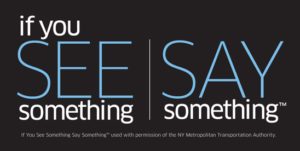 United States Department of Homeland Security if you see something say something program logo